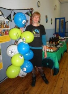 Organiser, Helen gets ready for the WFTD event.