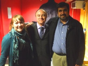 Ruth from Shared Interest, Mark of York Fair Trade Forum & Hugo Villela.
