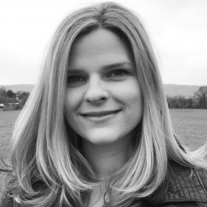 Holly Seddon author - head and shoulders black and white picture
